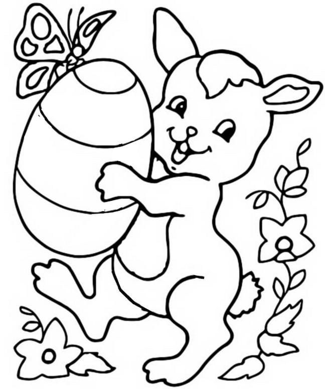 Coloring page easter 9 - Coloriage paques en ligne ...