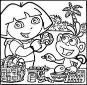 Malebøger Dora dekorere påskeæg