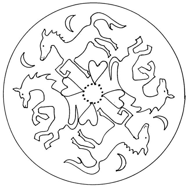 Malvorlagen Mandalas von Tiere 13