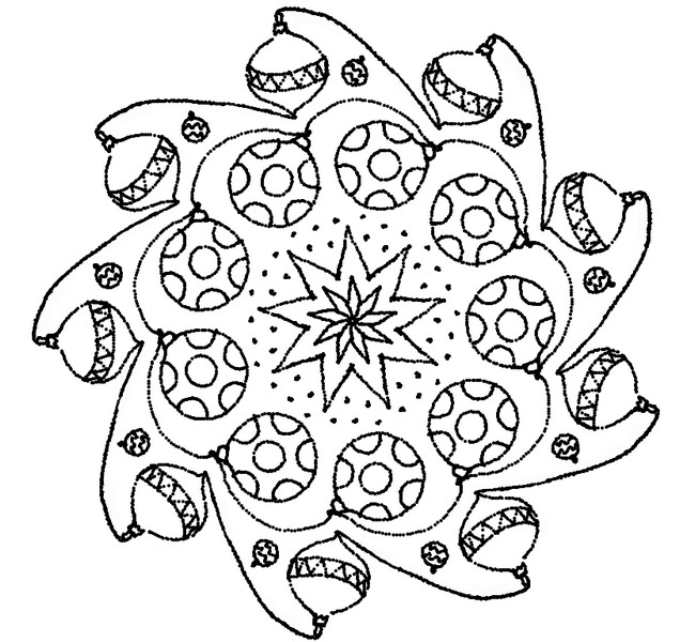 Målarbok Jul Mandala 1