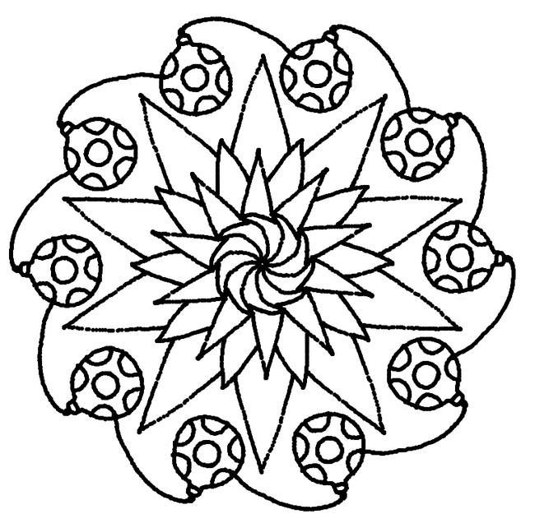 Dibujo Para Colorear Mandalas De Navidad 5