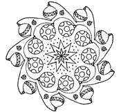 coloring pages christmas mandalas
