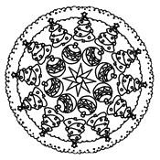 Disegno da colorare Mandala per Natale