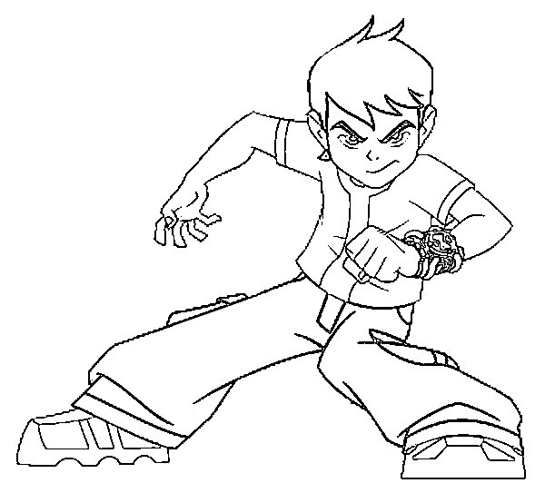 Coloring page Ben 10 1