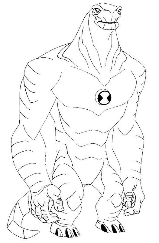 ben 10 coloring pages humungousaur | Coloring pages, Coloring ... | 800x526