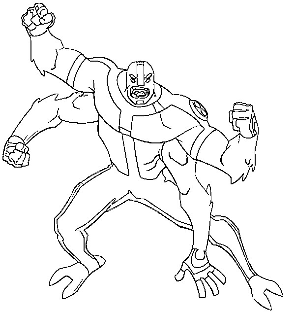 Coloring page Ben 10 4