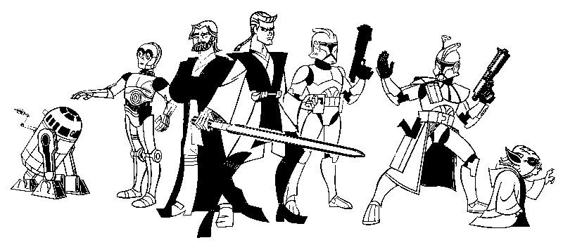 Desenho Para Colorir Clone Wars 10