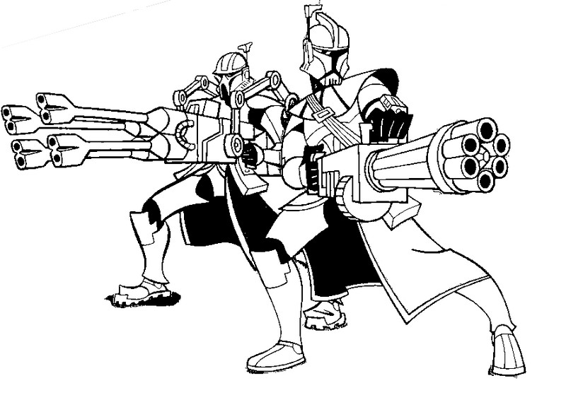 Desenho Para Colorir Clone Wars 2