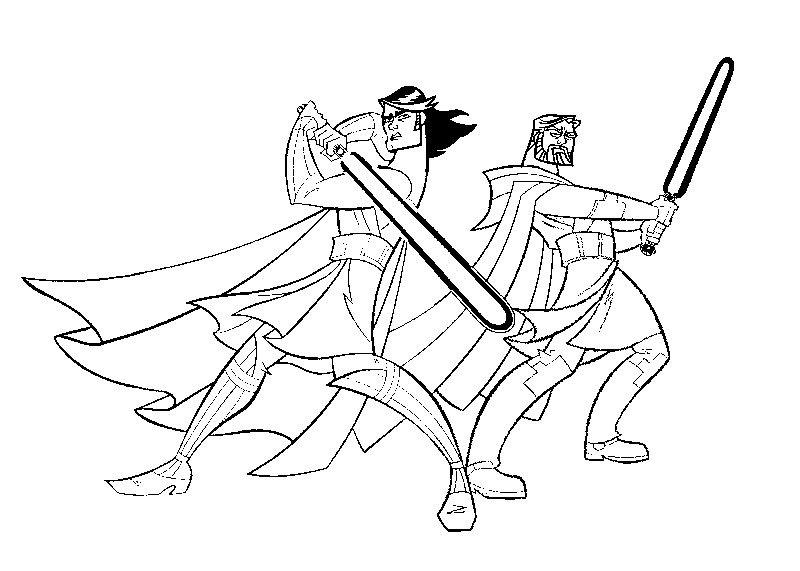 Desenho Para Colorir Clone Wars 3