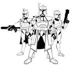 Coloring page Clone Wars