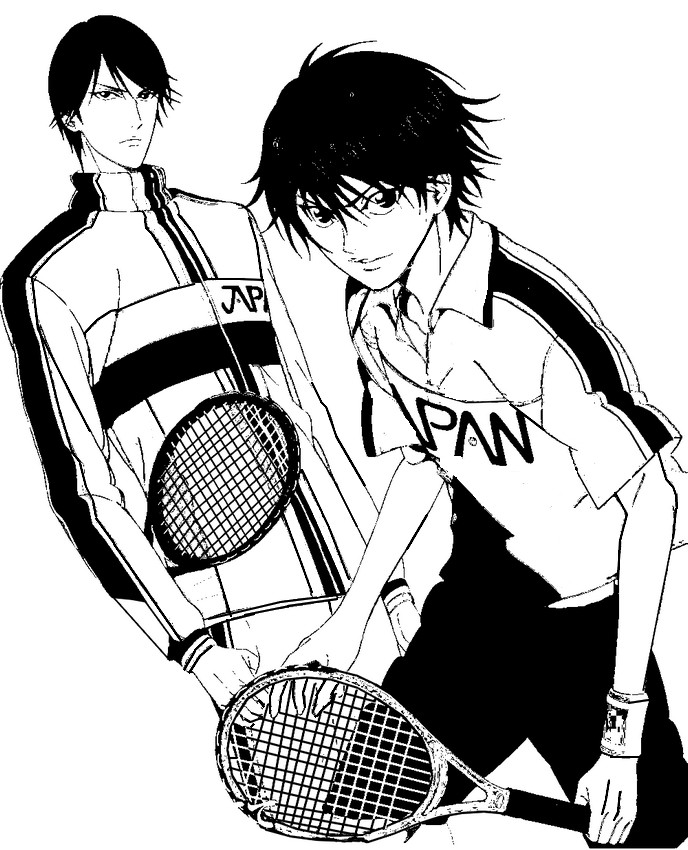 Prince Of Tennis Coloring Pages | Coloring Pages