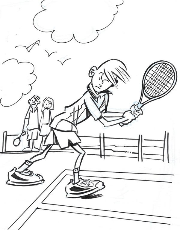 Tennis racket coloring page 1480956 - madmels.info