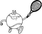 Coloring page Tennis ball