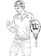 Desenho para colorir Roger Federer
