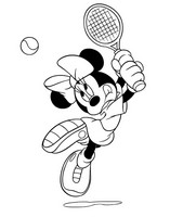 Coloring page Tennis Minnie
