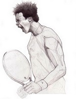 Coloring page Gaël Monfils