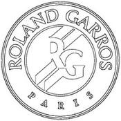 Desenho para colorir Logo Rolang Garros