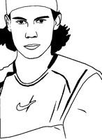 Desenho para colorir Rafael Nadal