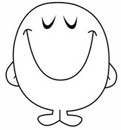 Coloring page Mr. Happy