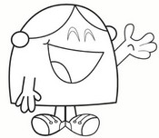 Coloring page Little Miss Chatterbox