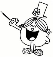 Coloring page Little Miss Magic