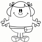 Coloring page Little Miss Helpful