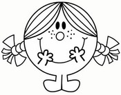 Coloring page Little Miss Sunshine