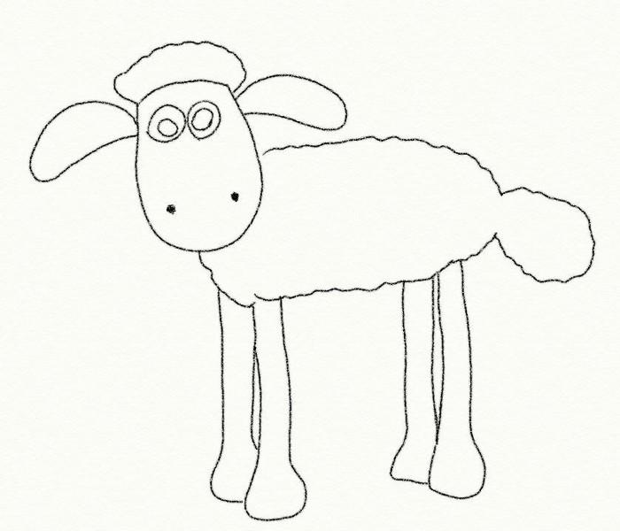 Desenho Para Colorir Shaun O Carneiro 1