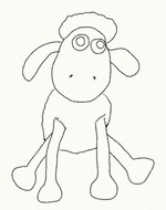 Disegno da colorare Shaun Vita da pecora