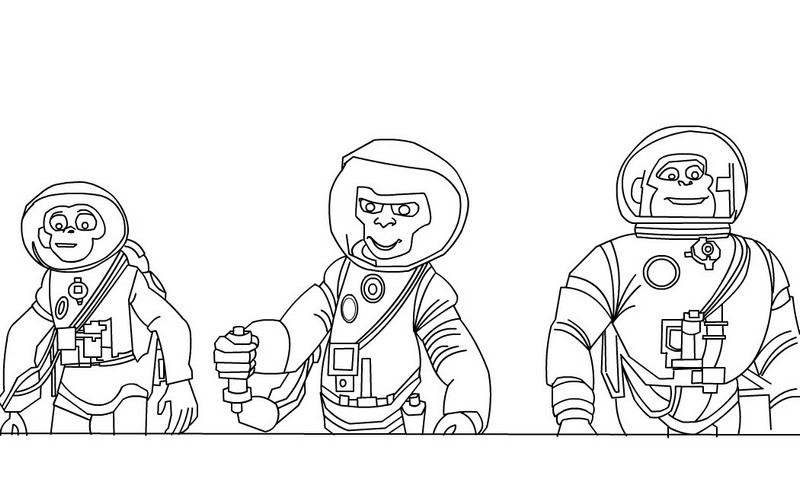 space chimps coloring book pages - photo#2