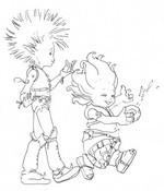 Dibujo para colorear Arthur y los Minimoys