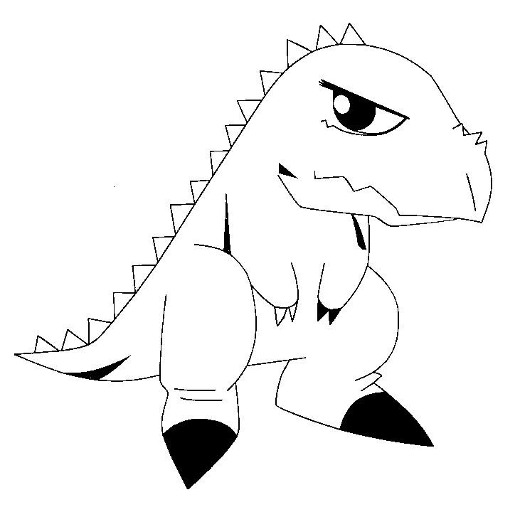 Kleurplaten Dinosaur.Kleurplaat Dinosaur King 12
