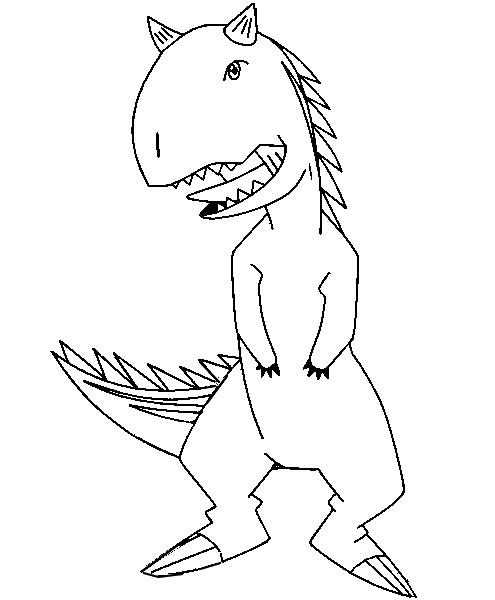 dinosaur king coloring pages - photo#22