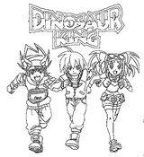 Coloring page Dinosaur King