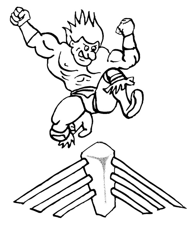 bethesta the wrestler coloring pages - photo#16