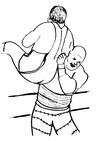 Disegno da colorare Wrestling