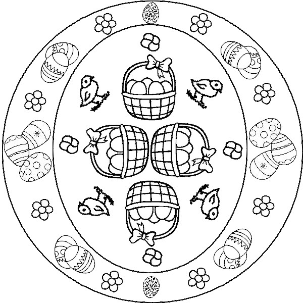Kleurplaten Mandala Pasen.Kleurplaat Mandala Pasen 1