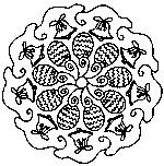 Disegno da colorare Mandala di Pasqua