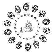 Disegni Da Colorare Mandala Di Pasqua Disegno