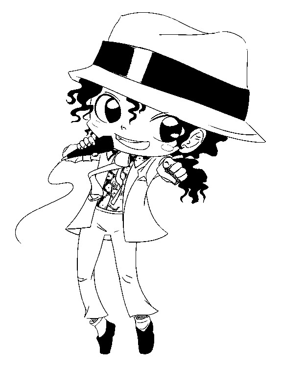 Coloring Pages Michael Jackson Drawings