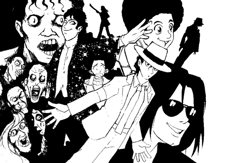Coloring page Michael Jackson 6