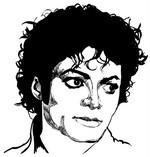 Målarbok Michael Jackson