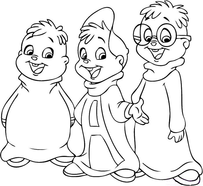 Dibujo para colorear Peliculas en los cines : Alvin and the Chipmunks 1