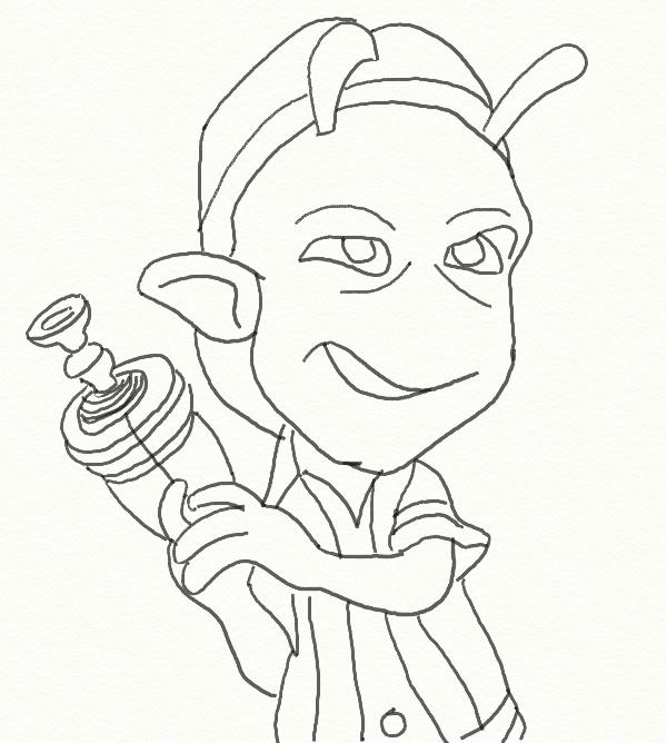 planet 51 coloring pages free - photo#10