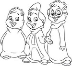 Coloring page Alvin and the Chipmunks
