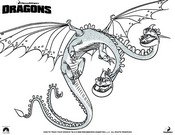 Coloring page How to train your dragon (Dreamworks)
