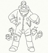 Coloring page Planet 51 - Chuck