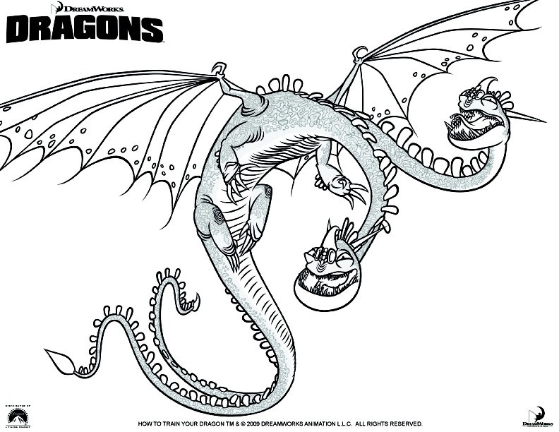 Coloring Page How To Train Your Dragon 5