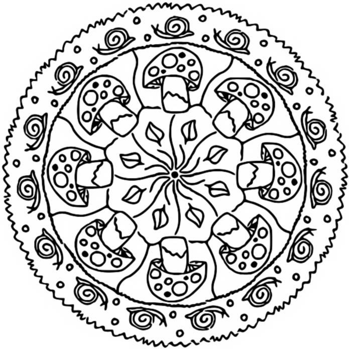 Coloring page fall 39 s mandalas 2 for Autumn mandala coloring pages