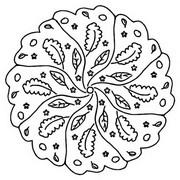 색칠 죽은 잎